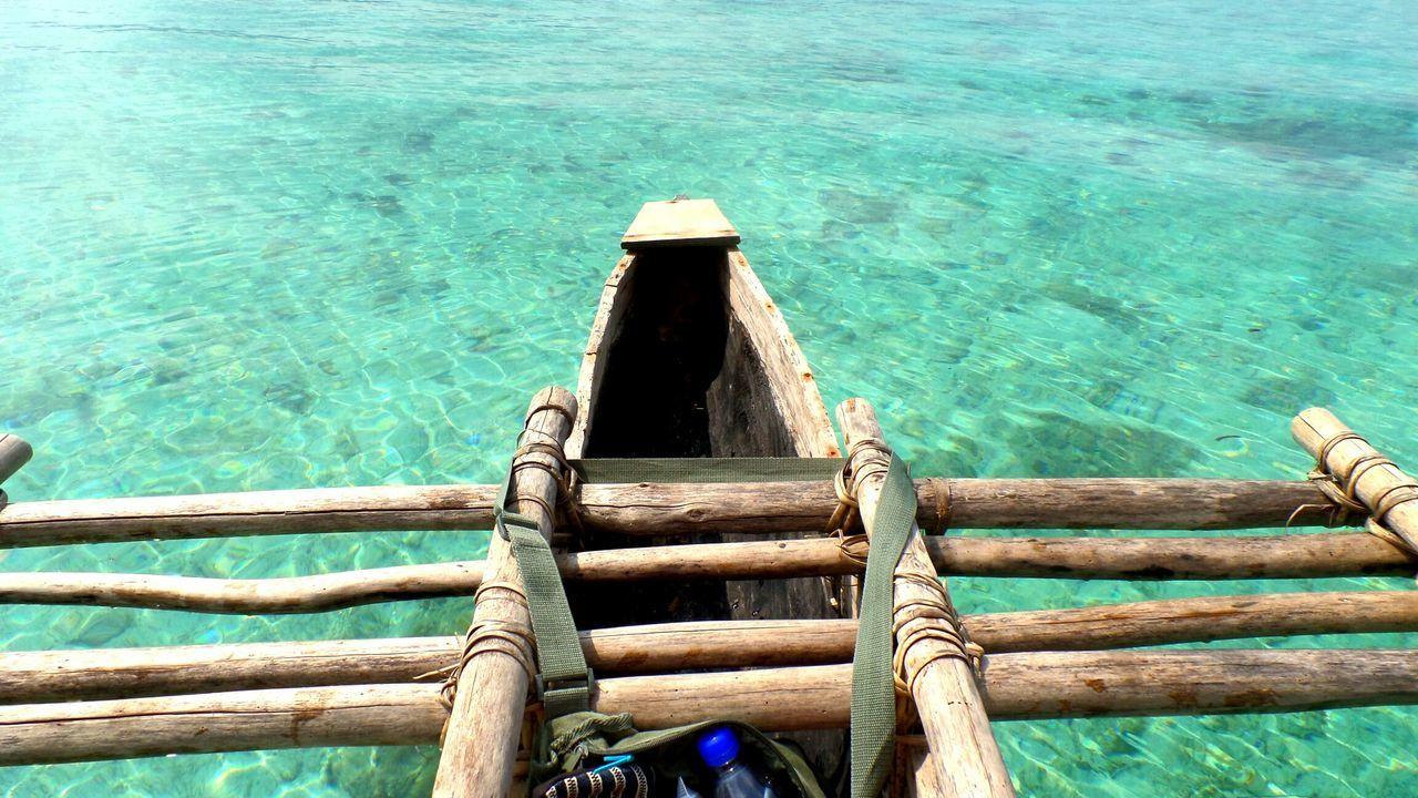 Water Sea Wood - Material Nautical Vessel Alone Vanuatu Boat Paddleboat Miles Away Südsee South Sea EyeEm Traveling