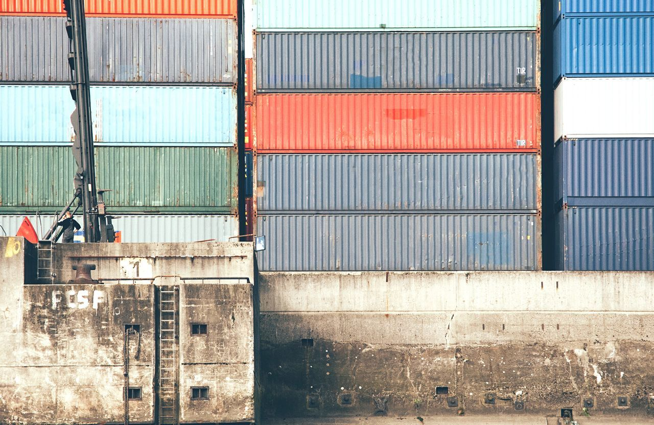 Beautiful stock photos of hamburg, Arrangement, Cargo Container, Commercial Dock, Container