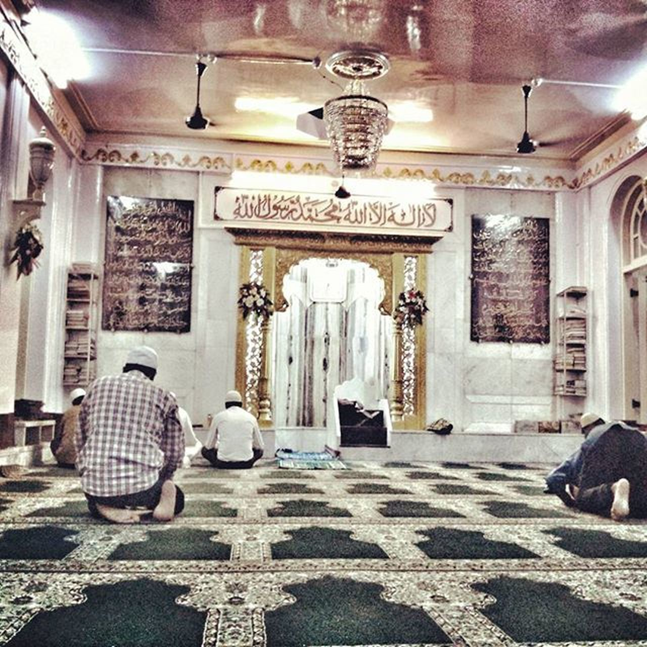 Mosque Ahmed Masjid Inside View Mumbai CST Muslim Islam Ramzan Pastal Power