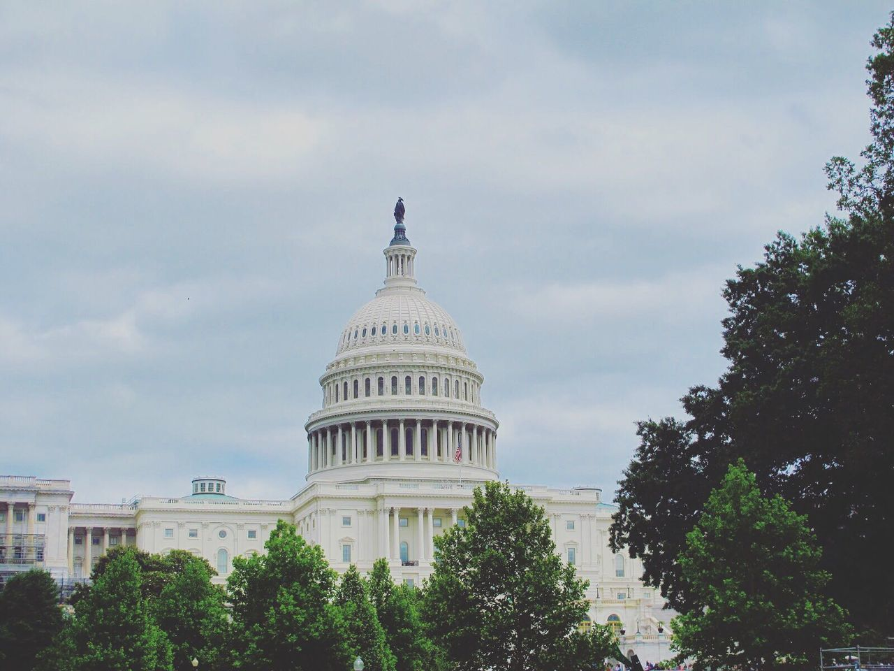 government, architecture, dome, built structure, building exterior, sky, tree, day, cloud - sky, no people, authority, city, outdoors