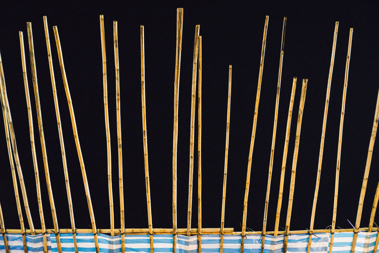 Bamboo Black Background Construction Night Nightlife Nightphotography No People Outdoors Pattern Stick