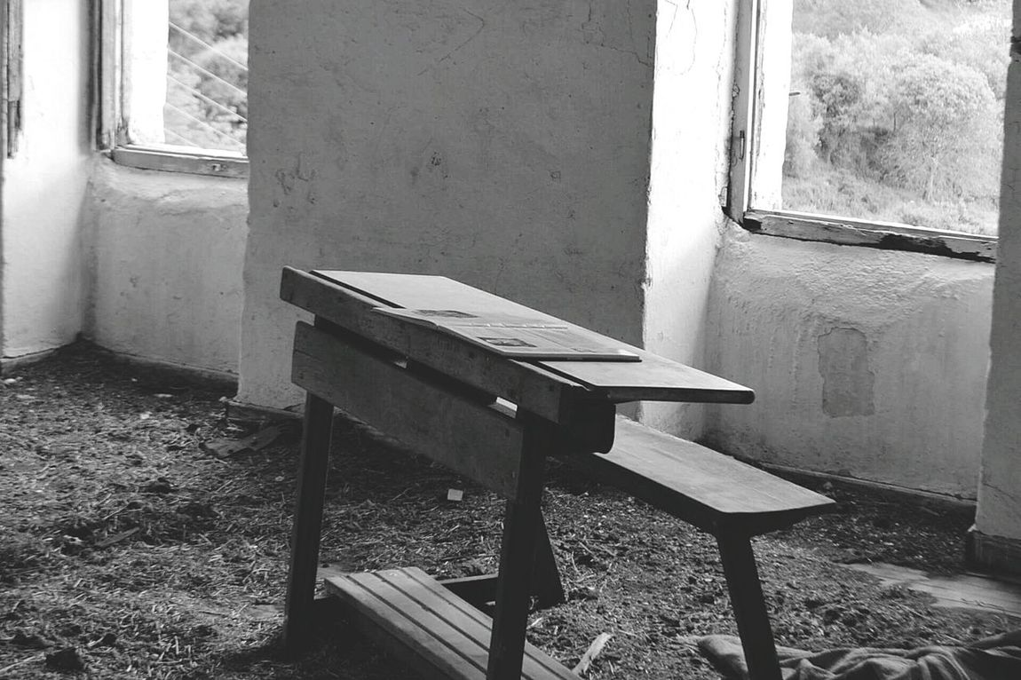 Old Buildings School Desk Abandonded Building Viilage Greece Photography Lovephotography  Blackandwhite Check This Out Feel The Journey Taking Photos Lovemycountry