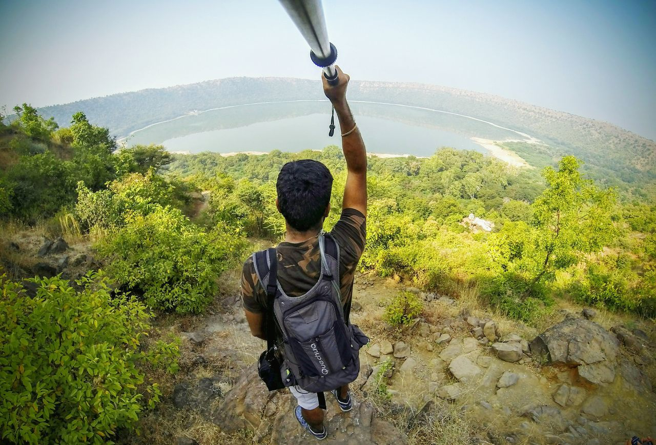 My Year My View Sky One Person Outdoors Sunlight One Man Only Adults Only Nature GoPrography Gopro Selfies Crater Lake Maharashtra India Traveling Travel Destinations Traveller