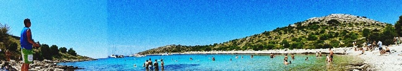 Archipel Kornati Croatia 2014 Kornati Island Adriatic Sea Blue Beach Virgin Islands Paranomic