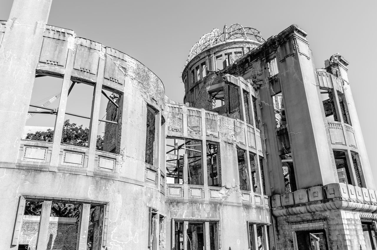 Architecture Architecture Black And White Building Building Exterior Built Structure Crime Scene Day Disaster Dome Famous Place History Japan Low Angle View Monochorme Monument No People Nuclear Blast Outdoors Ruined Sad Sky Travel Destinations The Architect - 2017 EyeEm Awards