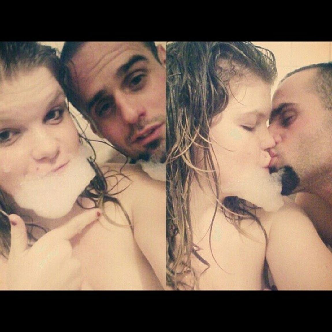 bath time :) rubadubdub. Bathtime Rubadubdub Boyfie Boyfriend us bubbles mustache werecute kisses myboo boothang