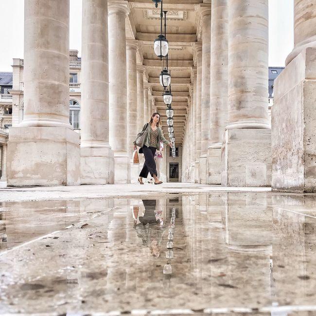 Good Evening Paris! Bonsoir Paris Architecture Surface Level Photooftheday Parisweloveyou Paris ❤ EyeEm Best Shots Eyem Best Shot - Architecture Paris Architecture City Life Tourism Puddle Puddlegram