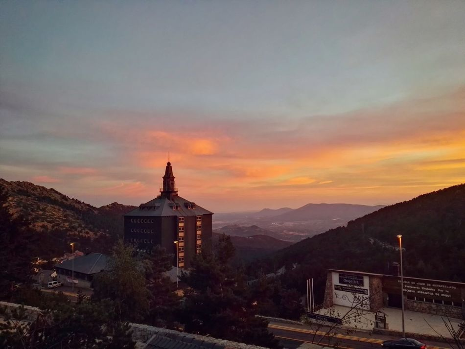A long night awaits us... Mountain Landscape Sunset Cloud - Sky Madrid Puerto De Navacerrada Nature_collection Phonegraphy Lonelyplanet Doyoutravel SPAIN Travel Summer Awesomeearth Orange Color Tranquil Scene Nature My Favorite Place