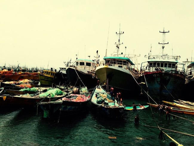 Visakhapatnam Port Fishing Boat Children Playing RuppaGkrsna Photography