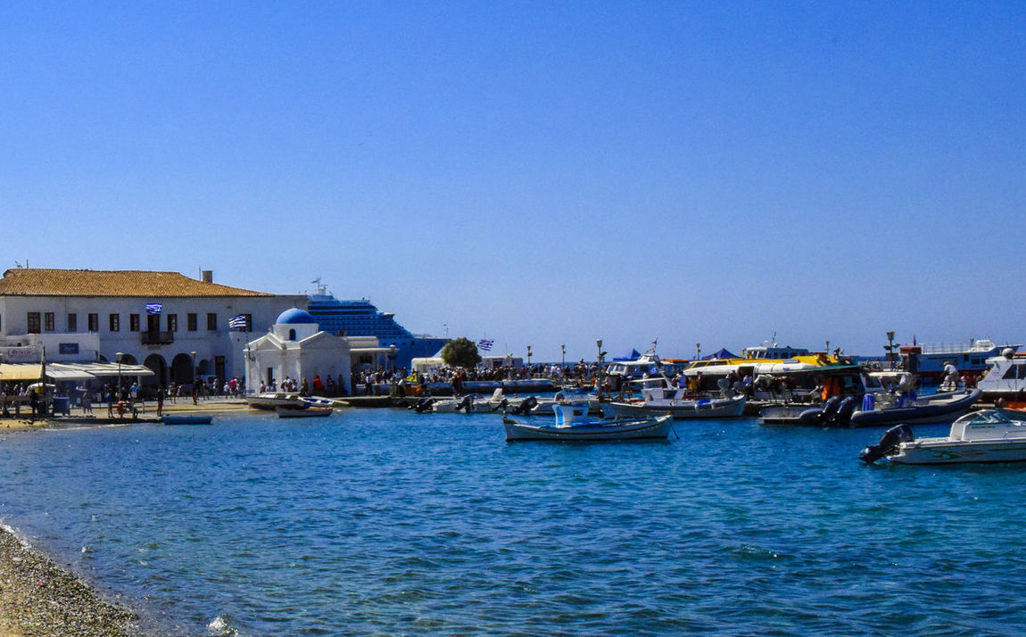 Harbor Mykonos,Greece Architecture Blue Blue Water Blue Water Blue Sky Building Exterior Built Structure Clear Sky Go-west-photography.com Greece Harbor Harbor View Kyklades Kyklades Islands Mykonos Nature Nautical Vessel Outdoors Sea Sky Travel Destinations Water Waterfront White Houses