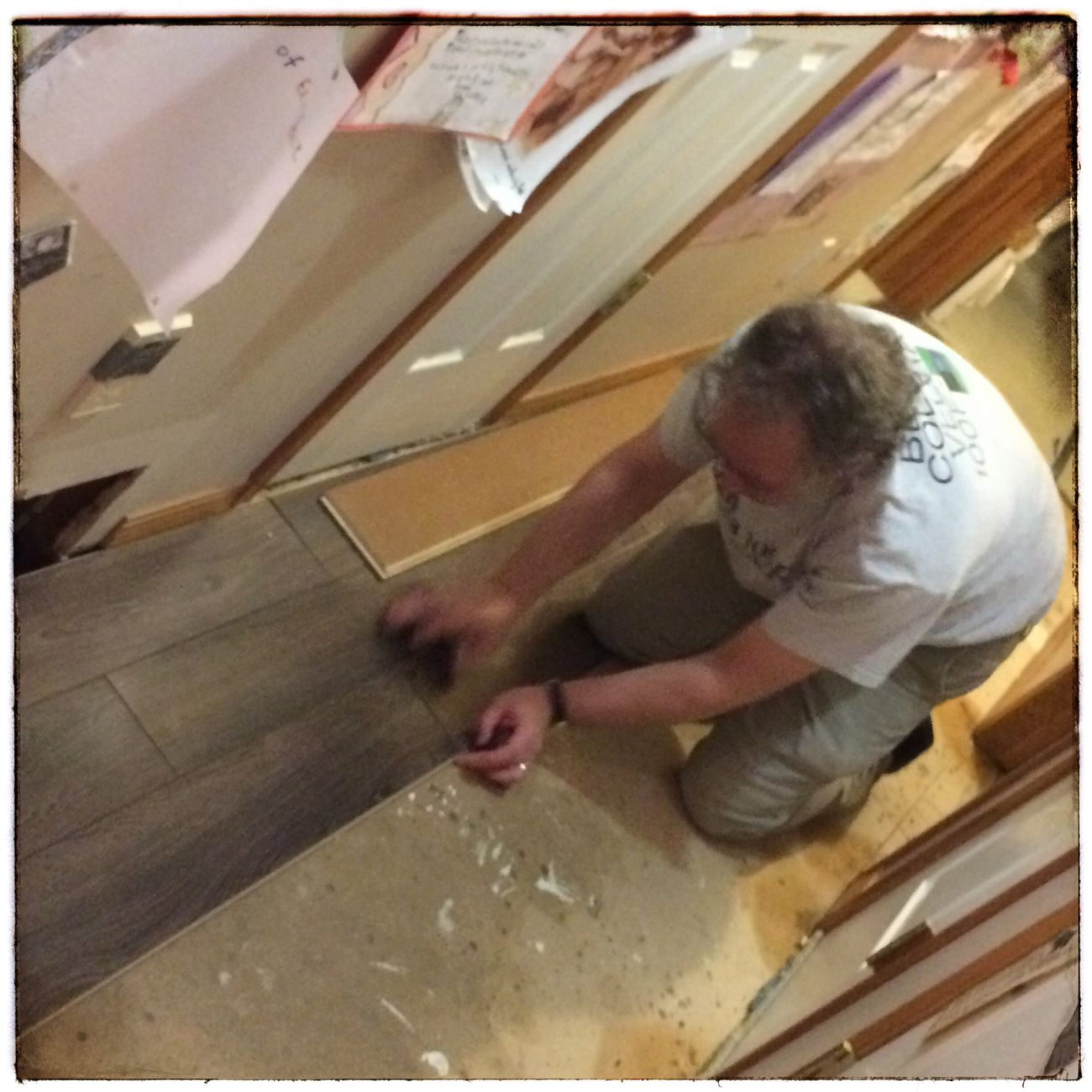 Cool took a photo of me as I installed a new laminate wood floor in our hallway this evening. #renovations Renovations Working Hard That's Me