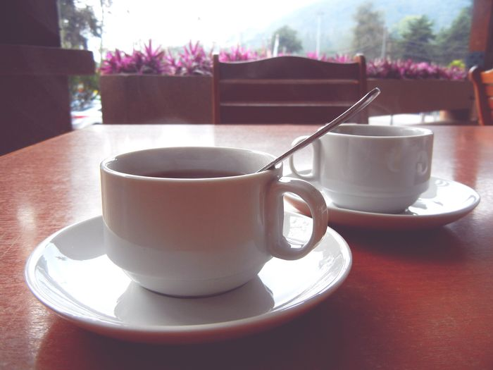 Good coffee with good company.