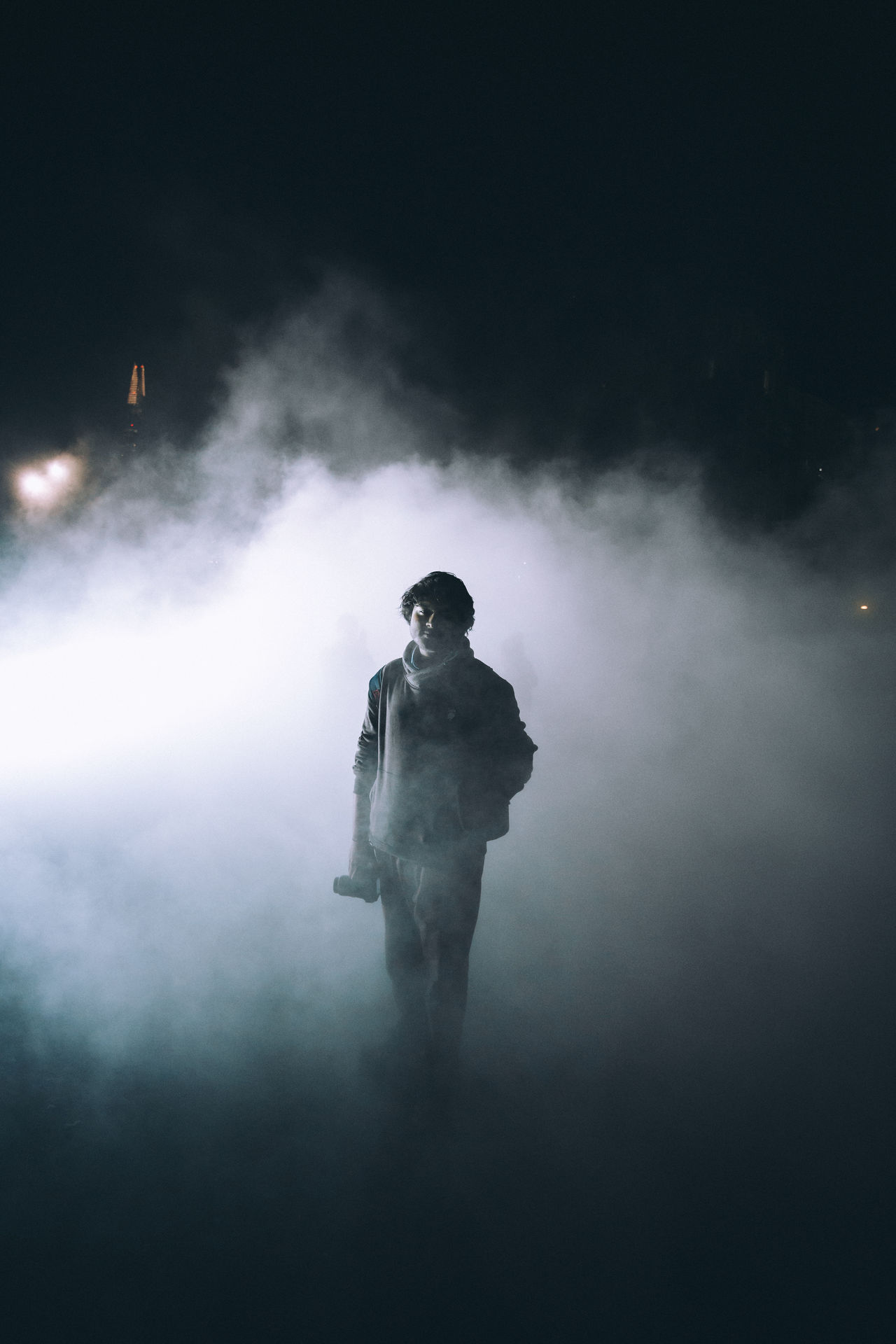 Fog vibes Art Check This Out Colors Dark Explore Exploring EyeEm EyeEm Best Shots Fog Full Length Illuminated Night One Person Outdoors People Portrait Real People Side Lighting Smoke - Physical Structure Street Streetphotography Surreal Taking Photos Young Adult