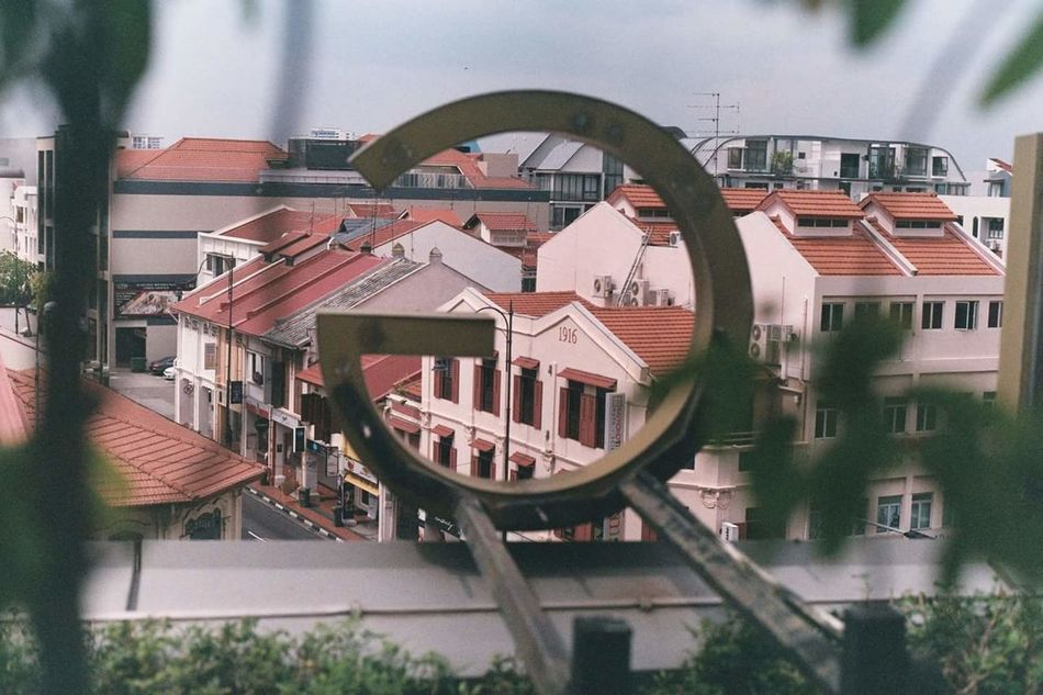 Letter G Singapore Architecture Building Exterior City Built Structure Lettering Letter G Roof Pentax K1000 Film Photography 35mm Film Film Singaporestreetphotography Katong I12 No Filter