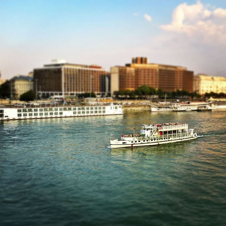 #budapest #ChainBridge #danube #hotelintercontinental #lumiaphoto #sofitel Architecture City Day Large Group Of People Leisure Activity Lifestyles Mode Of Transport Nature Outdoors People Sky Transportation Water