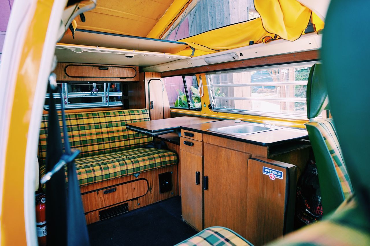 VW Bus life // VW Bus Indoors  Transportation Nautical Vessel No People Mode Of Transport Vehicle Seat Day