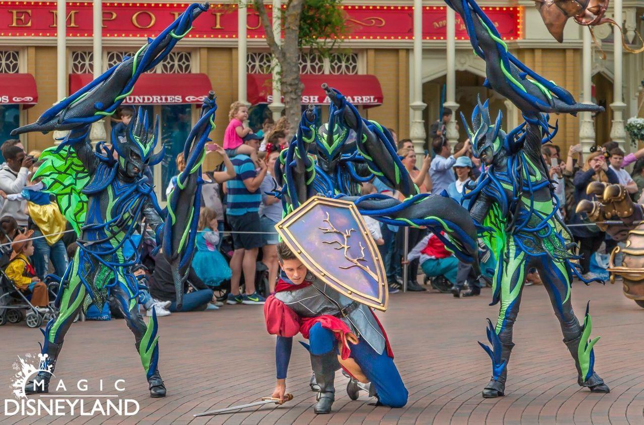 Large Group Of People Performance Multi Colored Celebration Disney Disneyland Disneyland Paris Disneyland Resort Paris Amusement Park