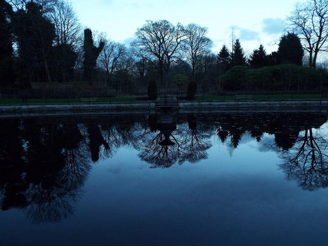 Haigh Hall Wigan United Kingdom Pond Water Reflection