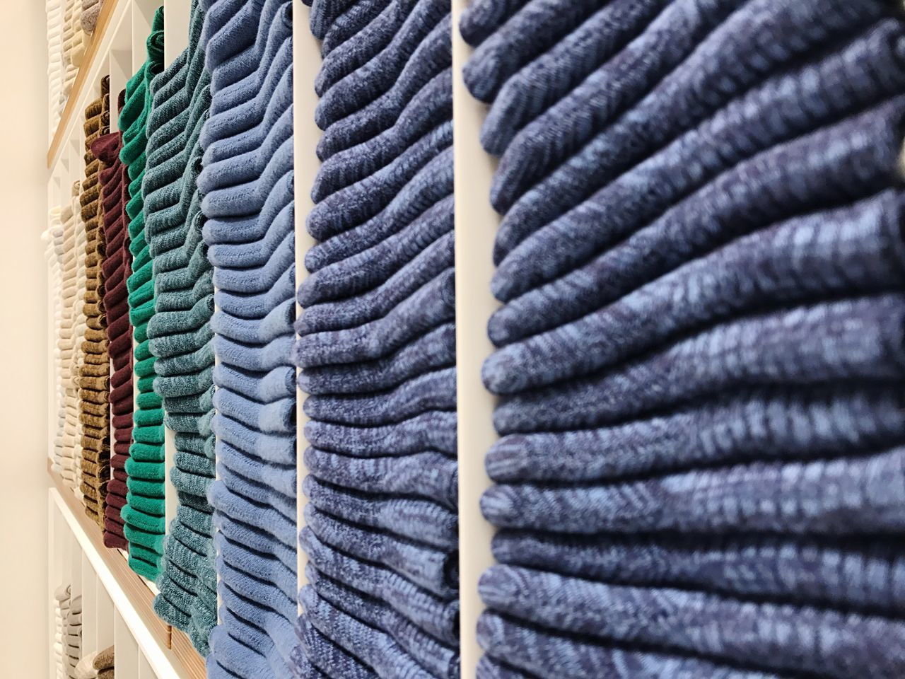 In A Row Textile Textile Industry No People Neat Store Arrangement Indoors  Large Group Of Objects Backgrounds Stack Retail  Choice Full Frame Close-up Multi Colored Manufacturing Equipment Day