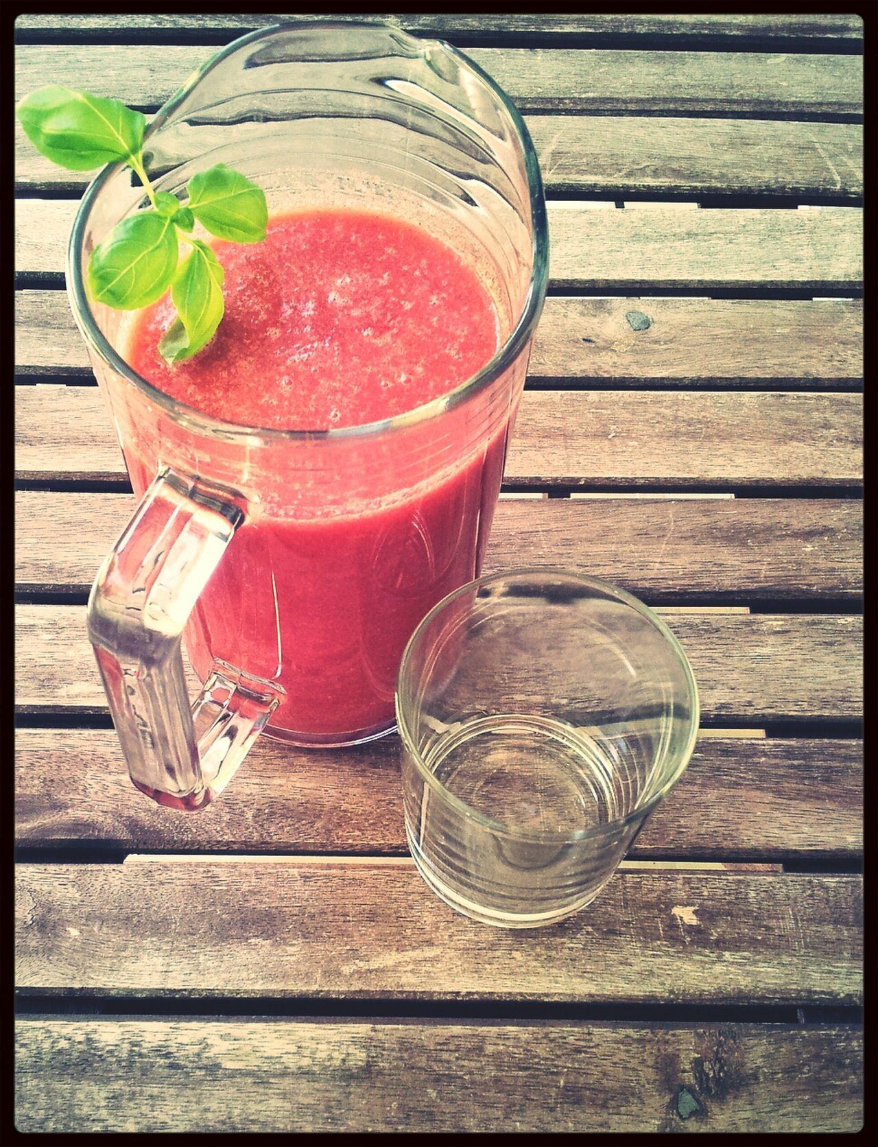 strawberry-watermelon-smoothie On My Balcony Relaxing The EyeEm Breakfast Club