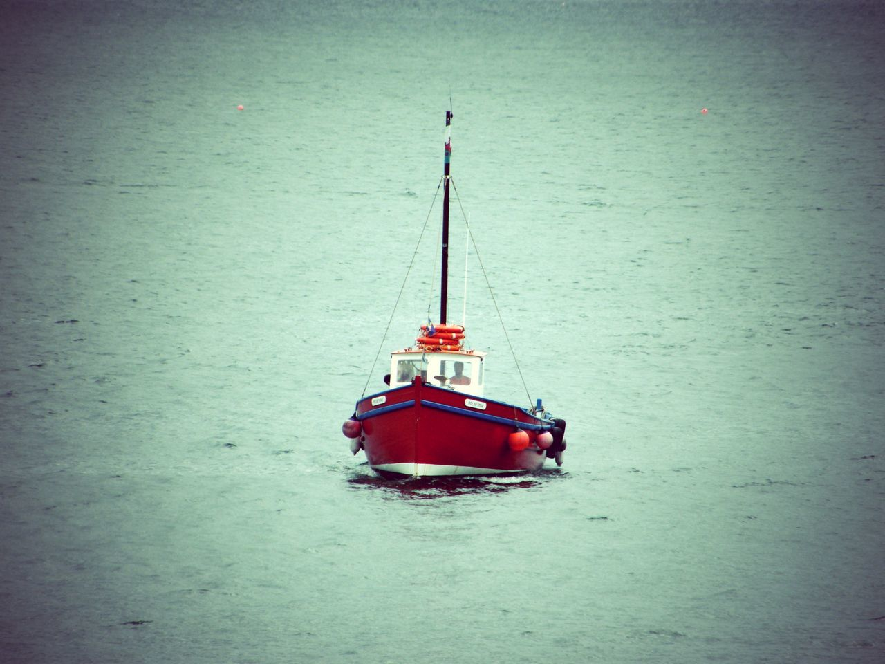 Beauty In Nature Day Mode Of Transport Nature Nautical Vessel No People Outdoors Pembrokeshire Pembrokeshire Coast Pembrokeshire Coastal Path Sea Tenby Tenby Harbour Transportation Water The Red Boat