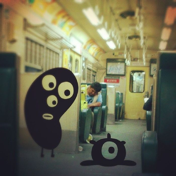 De la serie de monstruos en el tren... Monstruo Monsters Tren Divertido fun funy foto photo