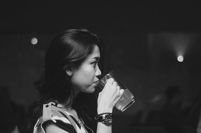 Side View Indoors  Lifestyles Person Beauty Innocence Young Adult Beautiful People EyeEm Best Shots Monochrome Photography EyeEm Best Shots - Black + White Black And White Blackandwhite Bw Fashion Casual Clothing