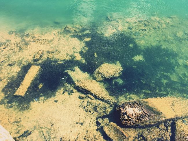 Alexandria Egypt IPhoneography Day Sea Sunnny Sand Rock Underwater Seaside Seaview