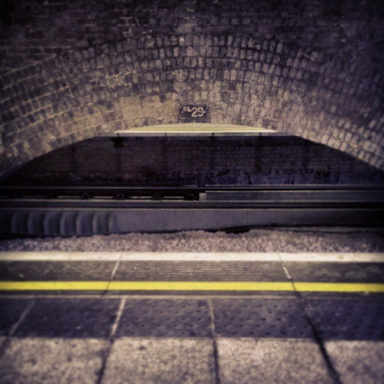 Bricks Brick Arch Brickarch brickarchitecture brickarches brickarchway railway platform yellowline yellowlines surreyquays surreyquaysstation selondon selondonforever