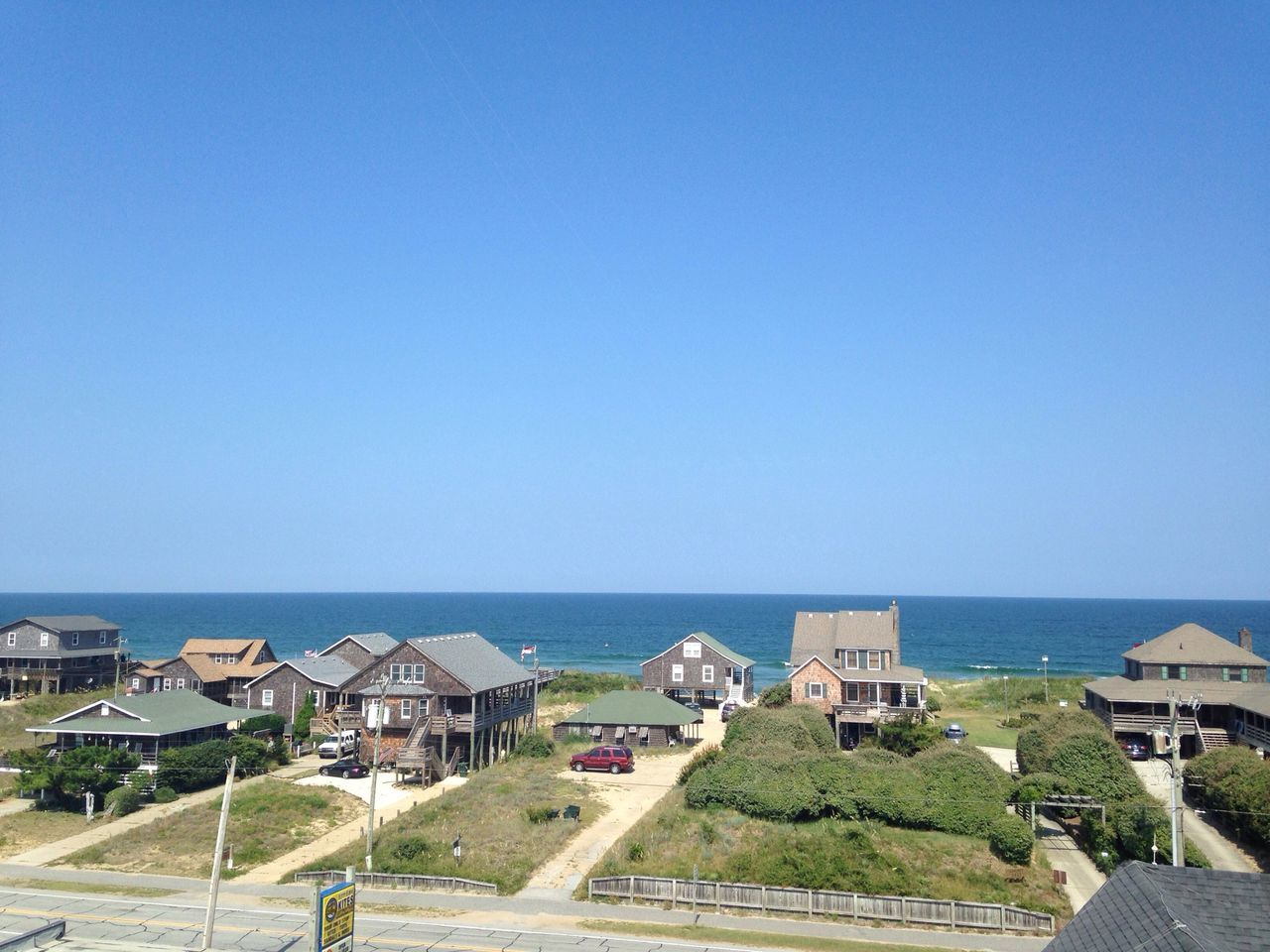 View from on top of Kitty Hawk Kites building. OBX14 Enjoying The View