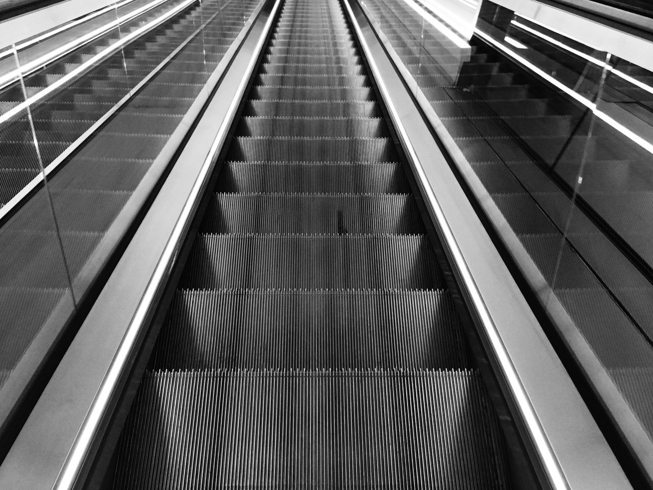Indoors  Escalator B&w Steps And Staircases Travel
