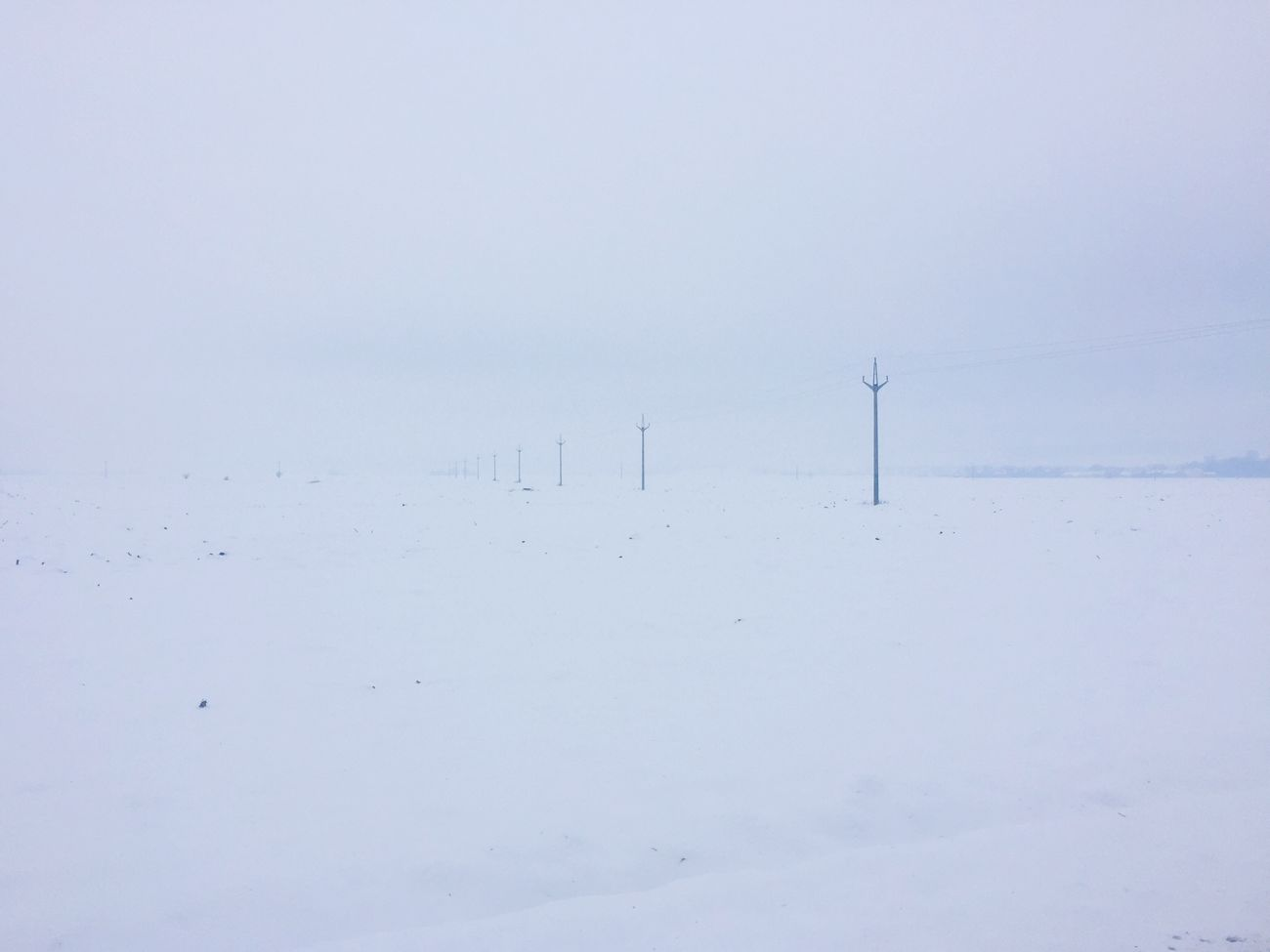 Winter view in Slovakia Winter Nature Slovakia Snow Landscape Electricity Pylon