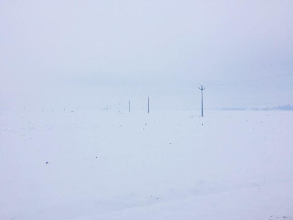 Winter view in Slovakia Winter Nature Slovakia Snow Landscape Electricity Pylon