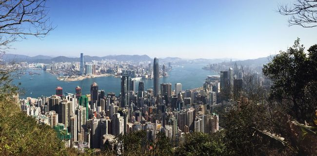 Beautiful New Year's Day in Hong Kong (new year of the fire monkey) HongKong Panorama Victoria Harbour Hong Kong Victoria Harbour Panoramic View Cityscapes_collection Cityscape Buildings & Sky