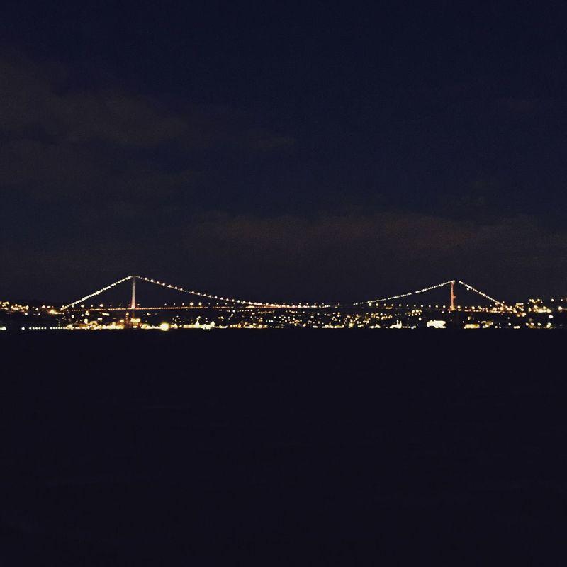 Connecting two continents.... Landscape Bridge Night Light drama city joy