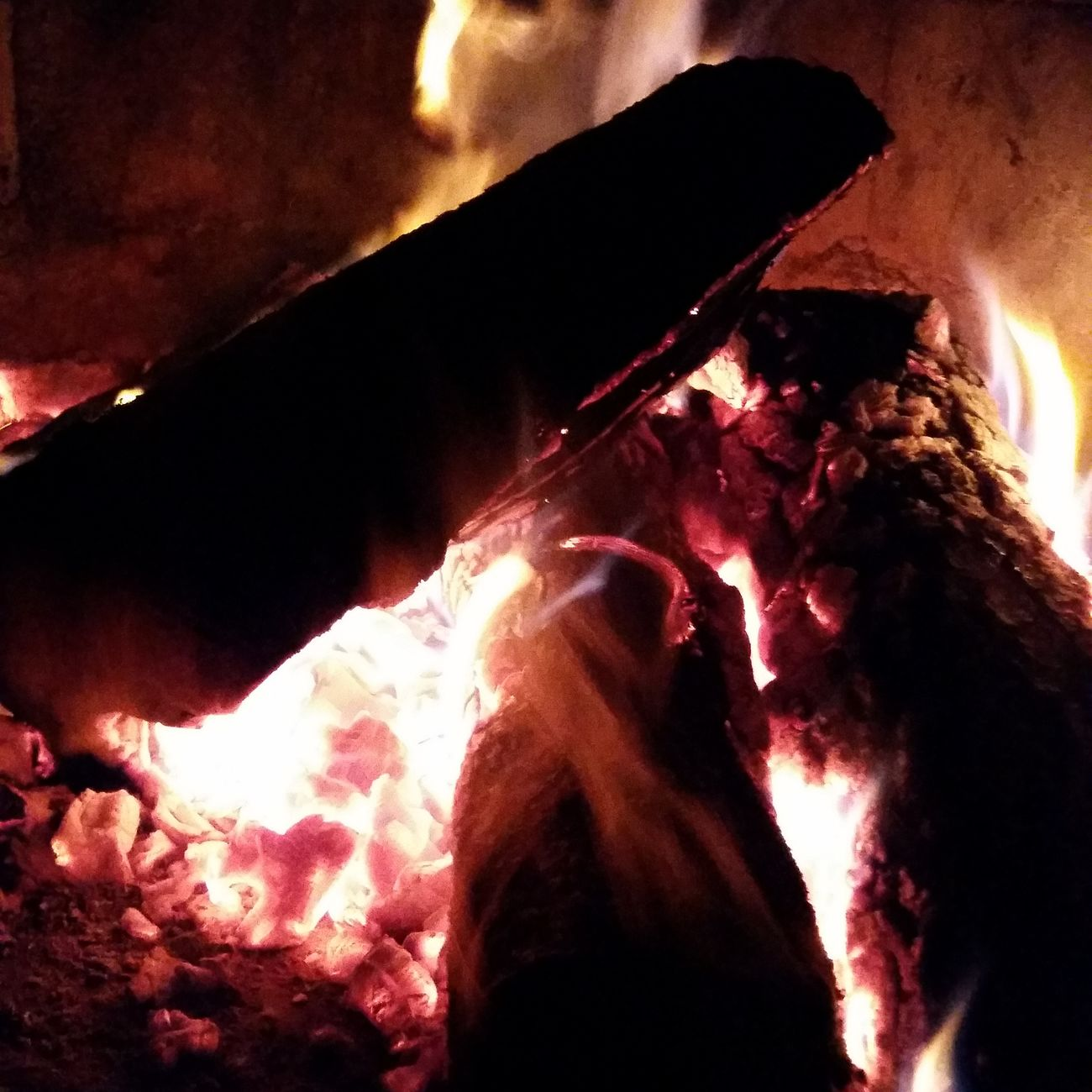 Fire Cold Spring Indoors  Night