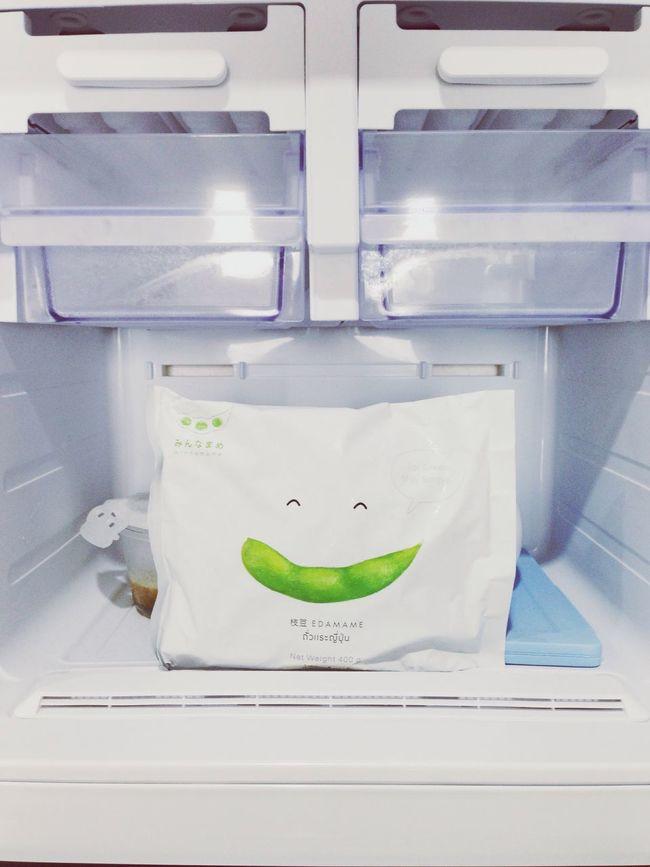 Happy Smiling In The Fridge Frozen Edamame Packaging Design