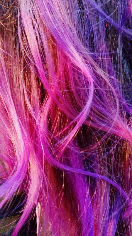 Hair Hairstyle Haircolor Color Explosion Hard Color Girl Loveit Mermaid Mermaid Hair Pink And Purple 😚