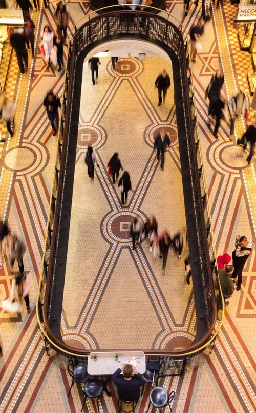 Everyday People Motion Queen Victoria Building Australia Sydney QVB Blurred Motion Long Exposure Movement Pivotal Ideas People Walking Rush Hour People Watching Everyday Everyday Lives Geometry Urban Life Moving Action