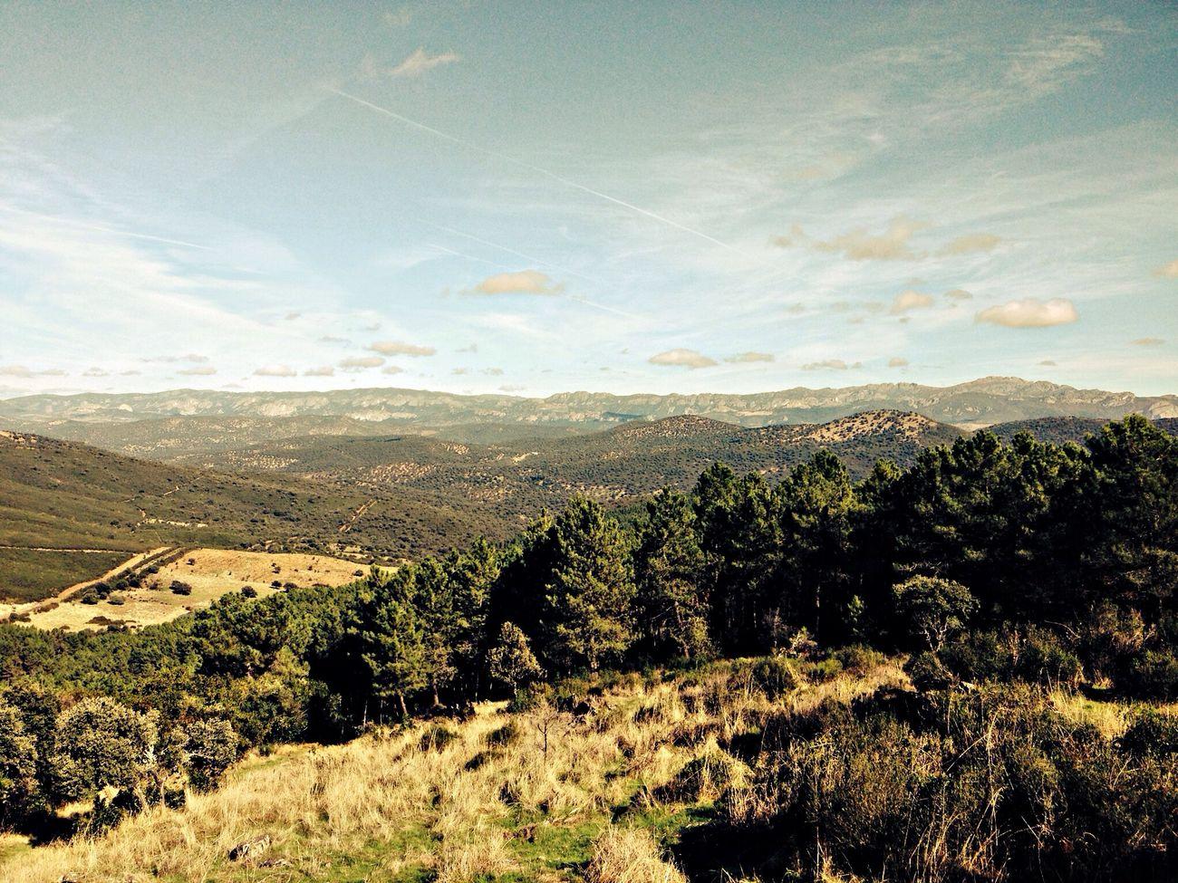 Desde las rúas, las vistas de las Villuercas. Tierras Garcieñas. Día del Calbote. Extremadura