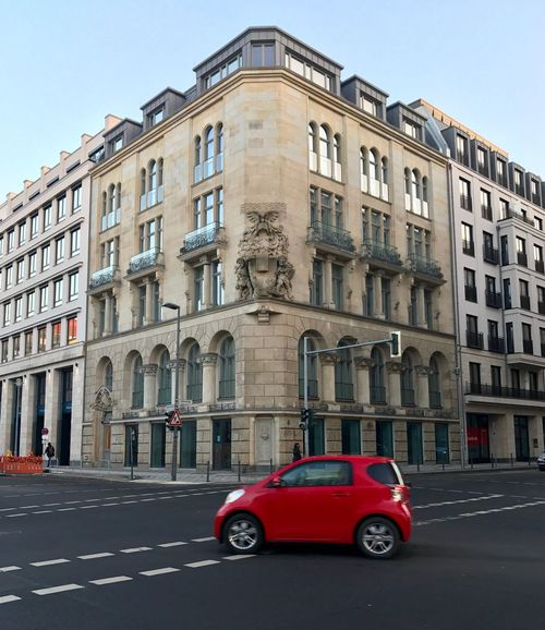 Surprise Little Red Car Complete The Picture Explore Berlin Neues New Neighborhood Transportation Capture The Moment Urban Life Photography In  Berlinstagram Germany Beautiful City
