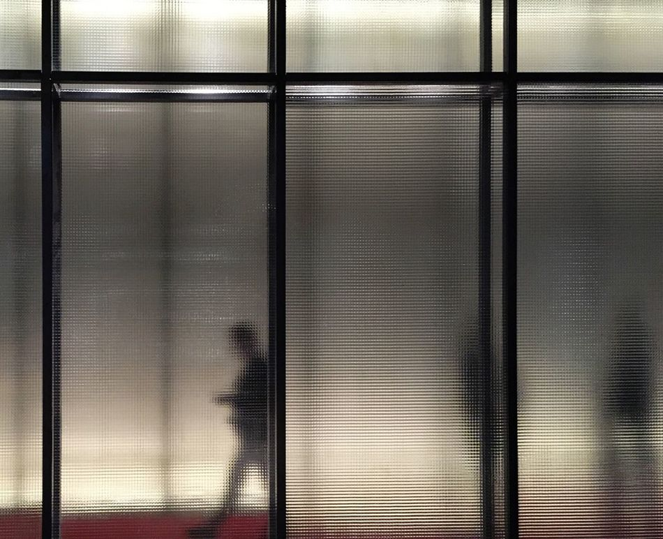 Abstract Abstract Photography Art Is Everywhere Backgrounds Blinds Corrugated Iron Frosted Glass Full Frame Geometric Shape Geometry Indoors  Metal People Photography Silhouette Silhouette_collection Silhouettes TCPM The City Light Urban Geometry Welcome To Black Window