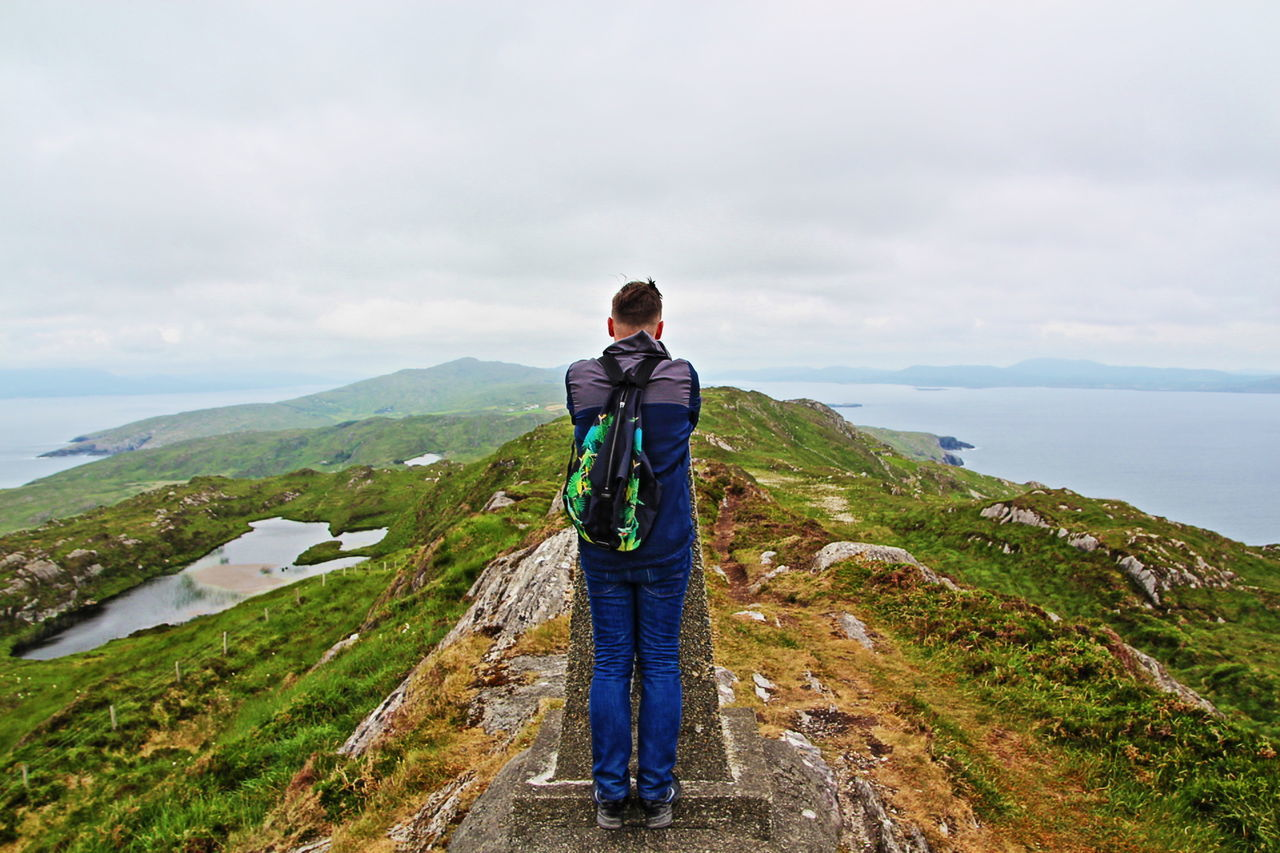 Achievement Beauty In Nature Hiking Hiking Trail Ireland Leisure Activity Lifestyles Mountain Peak Mountain Range Non-urban Scene People And Places