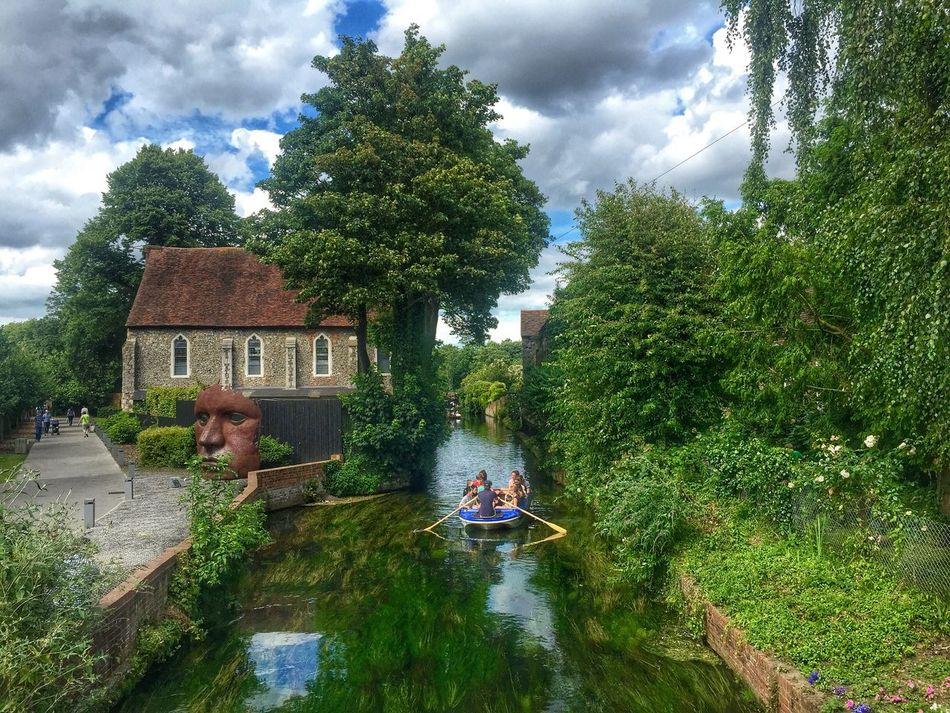 Canterbury Marlowe Theatre Boat Tour Boat Rowing River River Stour Kent City Life City Showcase July