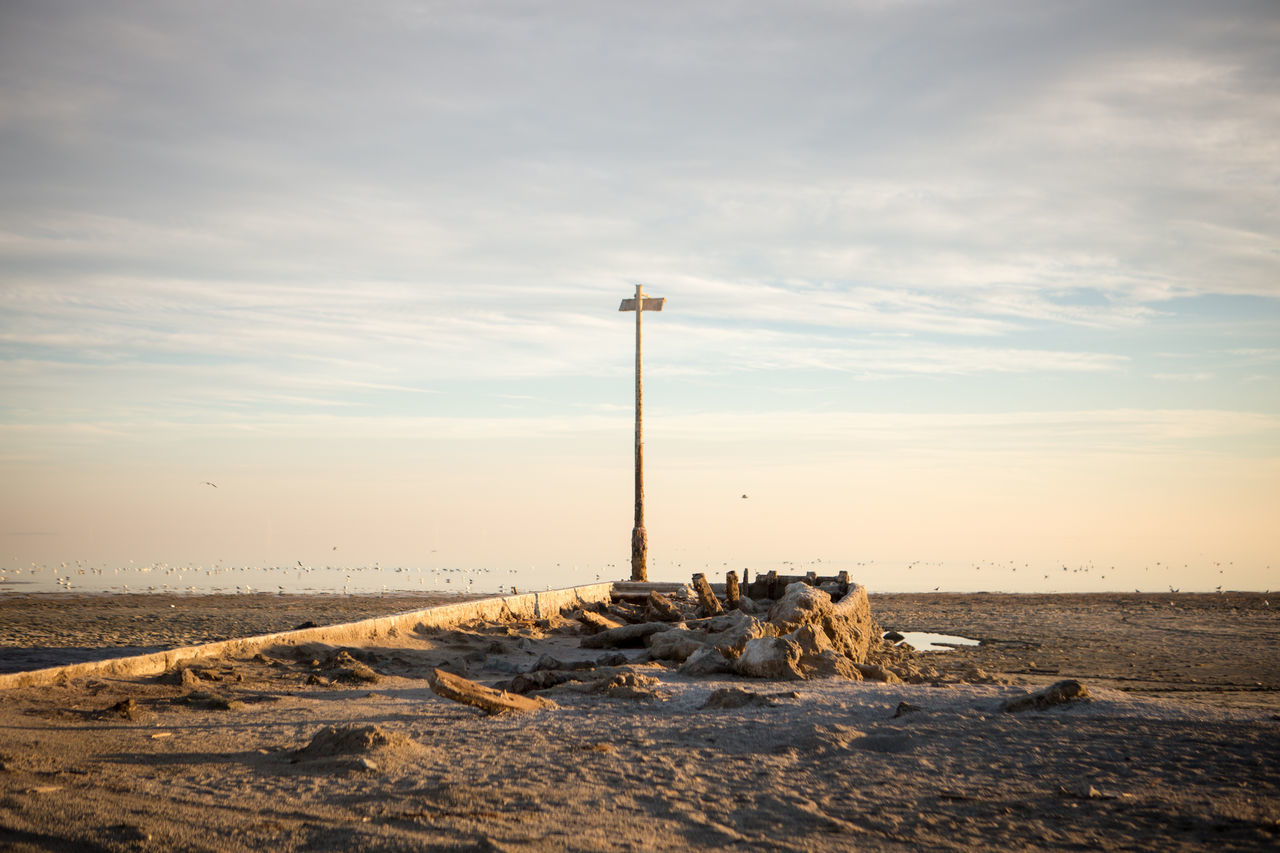 Bombay Beach ruins, Salton Sea, California. Abandoned Abandoned Places Beach California Day No People Outdoors Pier Ruin Salton Sea Scenics Sea Sky USA Water