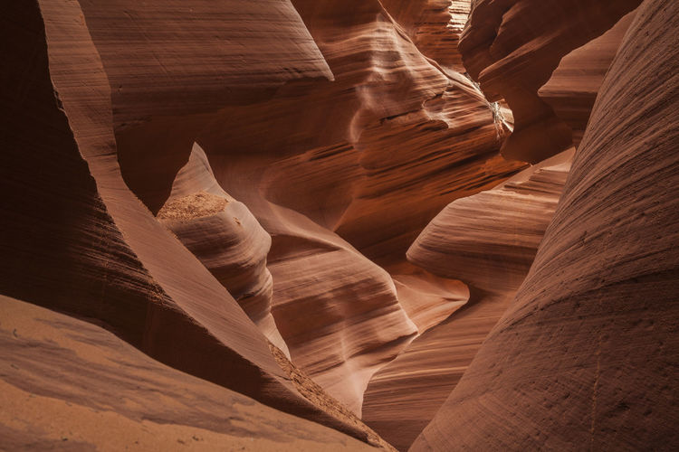 Antelope Sot Canyon Close Up Antelope Canyon USA Indian Reservation National Park Nature Page Arizona Red USA United States Abstract America Attraction Brown Cave Close Up Destination Landscape Nature Wonder Pattern Sand Sandstone Shapes And Patterns  Slot Canyon Tourism