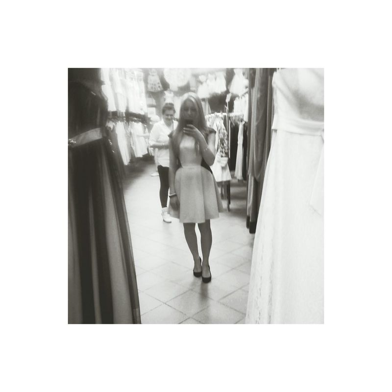 Dress Black & White SelfieInMirror Shopping