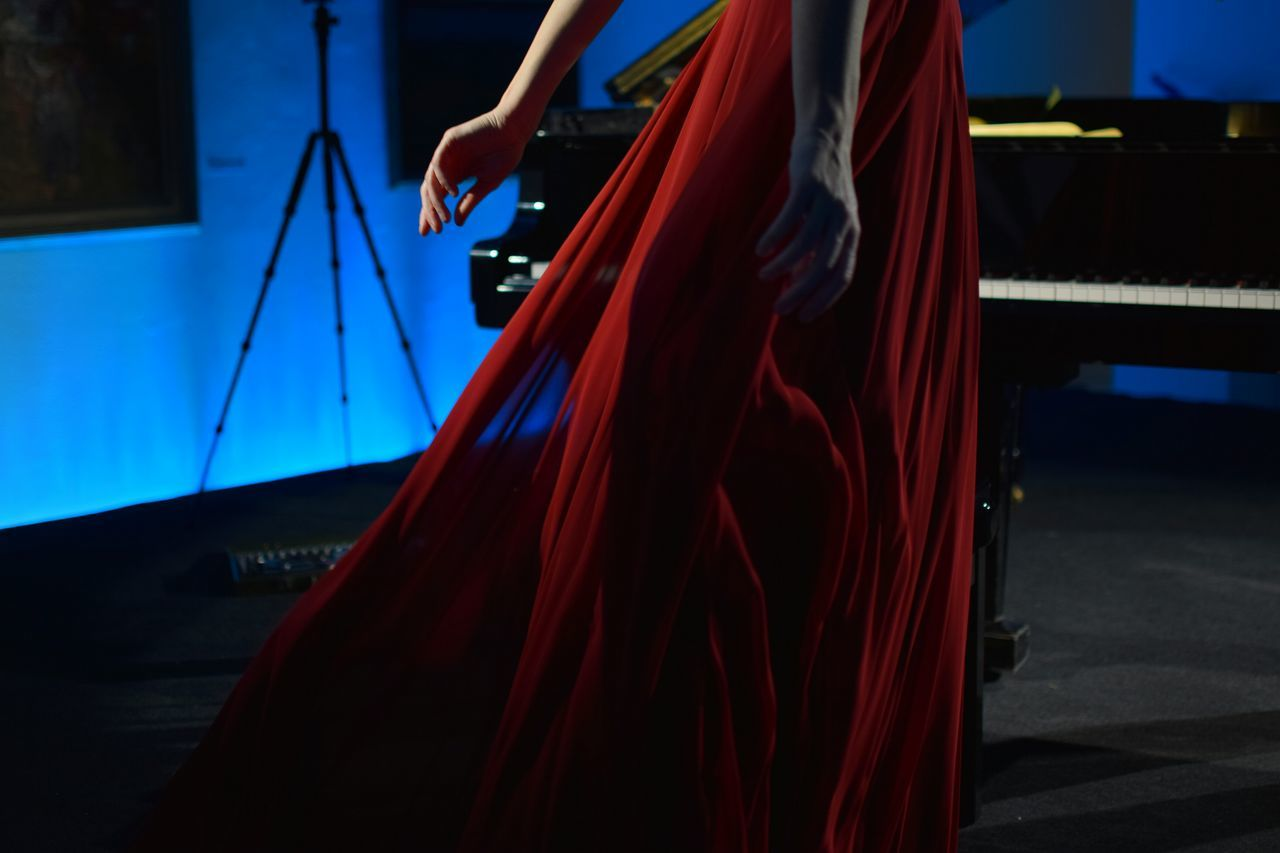 Performing Arts Event One Person Music Standing Red Dress Piano Player Piano Farytale Concert Photography Concert Women Around The World Piano Moments