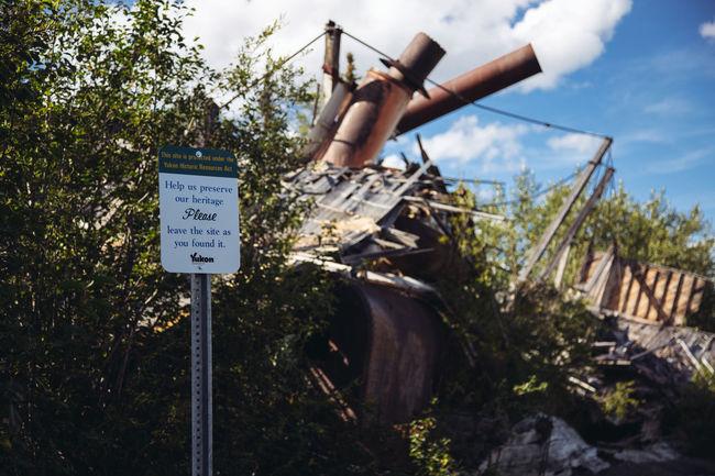 Canada Dawson Dawson City  Day Nature No People Outdoors Shipwreck Sky Text Tree Yukon