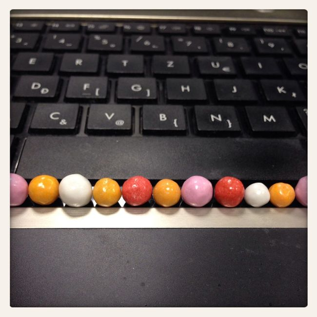 I Love My Job! Computer Candy Franciadrazsé Colorful